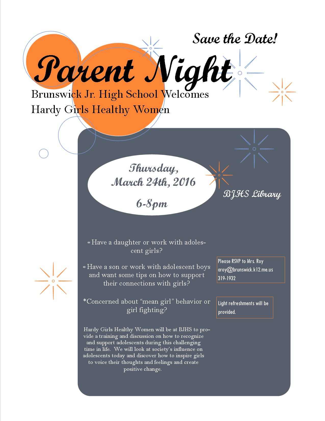 Hardy Girls Parent Night
