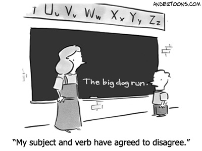 Subject Verb Pictures Subject/verb Agreement Test