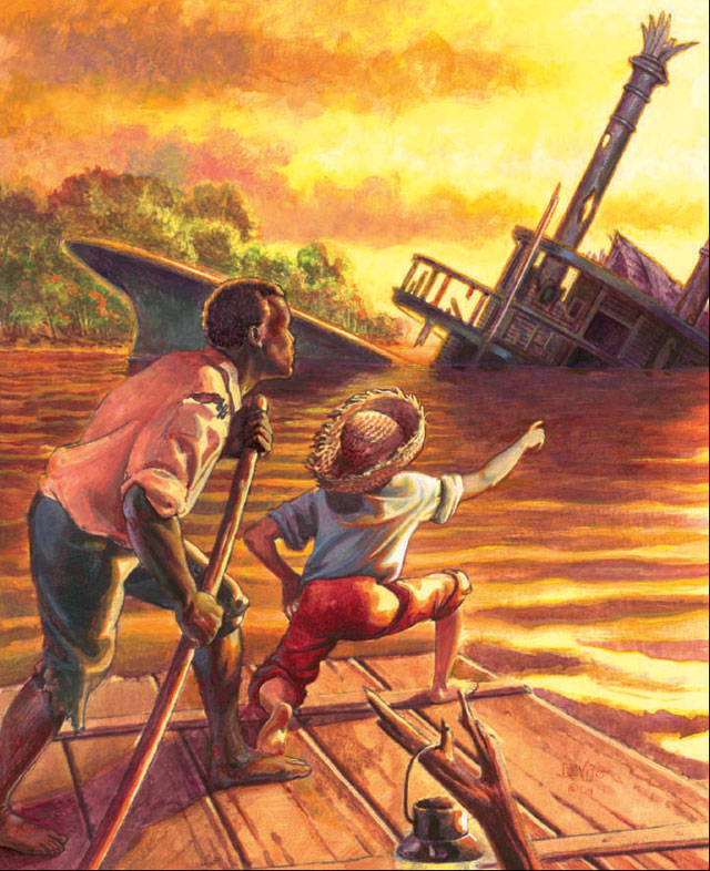 the theme of teaching in the adventures of huckleberry finn a novel by mark twain Adventures of huckleberry finn by mark twain it is important for students to understand that the adventures of huckleberry finn determine a theme or.