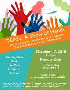 TEAN: A Show of Hands Flyer