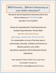 Parent Conversation Flyer
